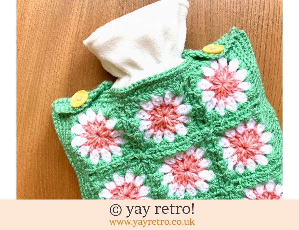 Crazy Daisy Crochet Hot Water Bottle Set (£19.50)