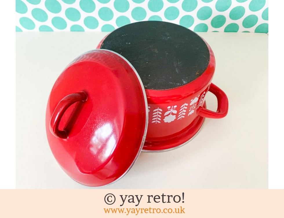 Red Hearts Enamel Pan Medium (£20.00)