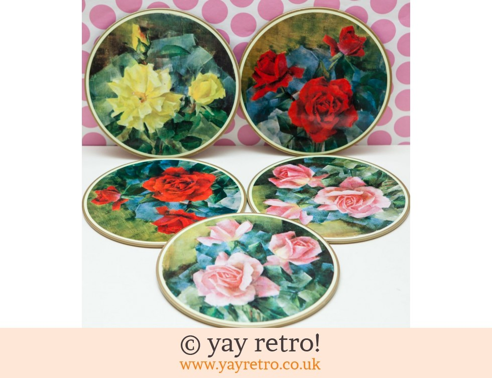 Worcester Ware: 1950/60s Worcesterware table Mats Roses (£12.00)