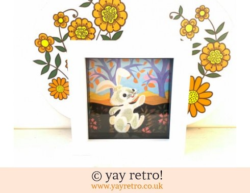 0: 1960s  Rabbit Framed Illustration (£6.00)