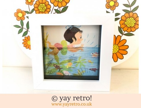 0: 1960s Little Swimmers Framed Illustration (£6.00)