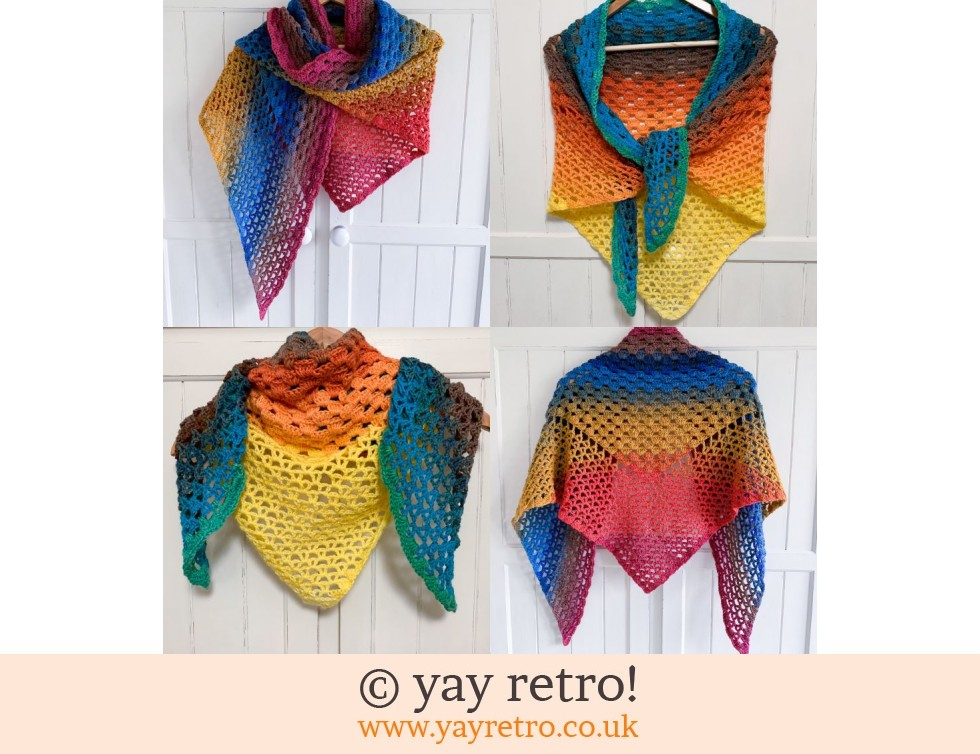 Pre-Order a 'Waves' Crochet Shawl - Buy yay retro Handmade Crochet online -  Arts & Crafts Shop, crochet shawls, wraps, blankets, hot water bottle