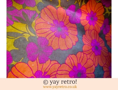 0: Vintage Flower Power Tablecloth (£7.75)