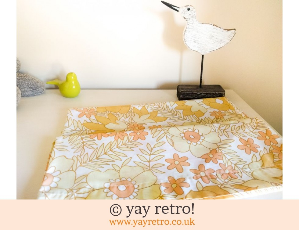 Vintage Yellow Flowery Pillow Cases (£10.50)
