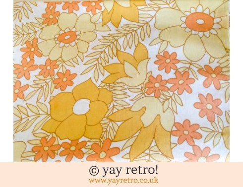 0: Vintage Double Flower Power Yellow Sheet (£22.00)