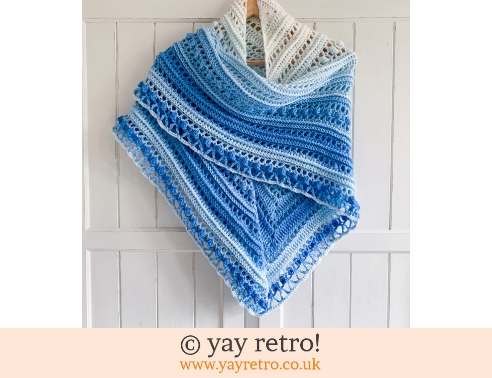 yay retro!: Blue Sky Crochet Shawl (£32.50)