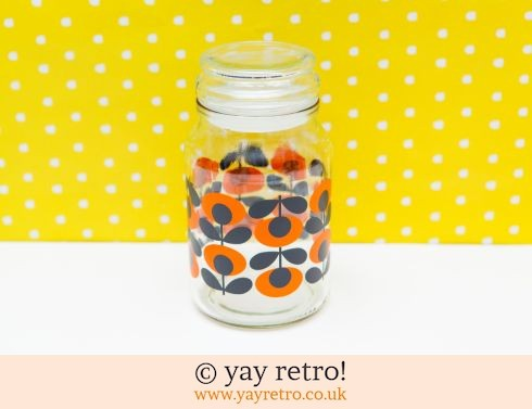 492: Orla Kiely Coffee jar Orange (£14.00)