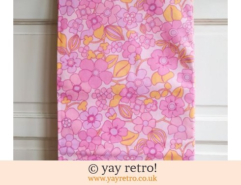 0: Vintage Pink & Orange Double Sheet Unused (£30.00)