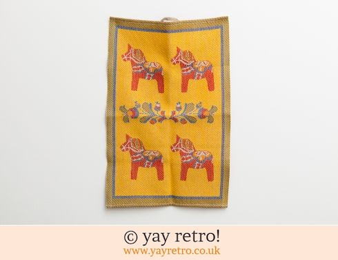 Swedish Dala Horse Woven Tea Towel (£9.00)