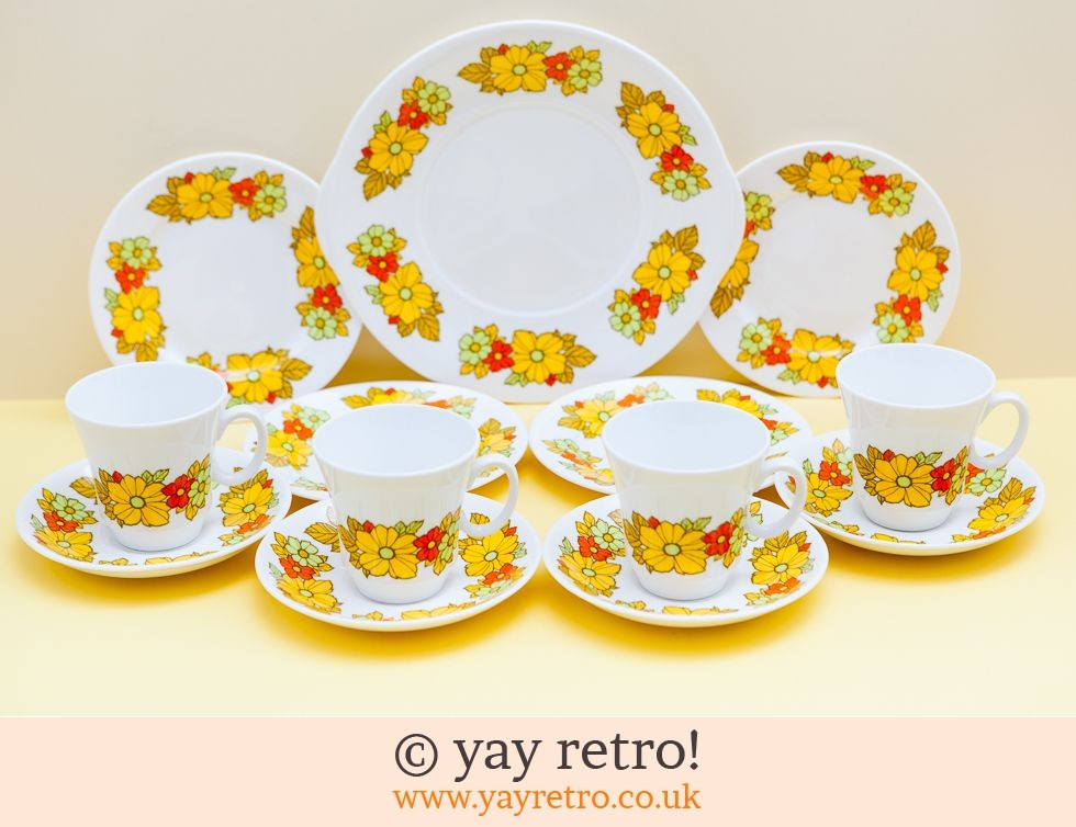 Royal Grafton: Flowery Tea set and Cake Plate (£28.00)