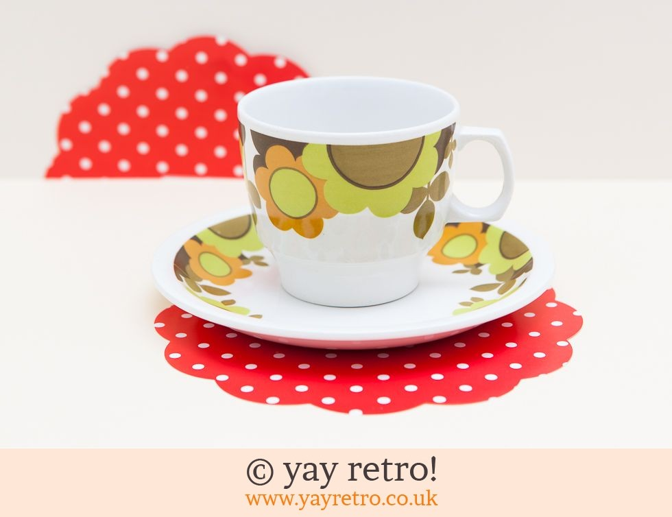 Oh So Funky Cup Saucer Vintage Shop Retro China