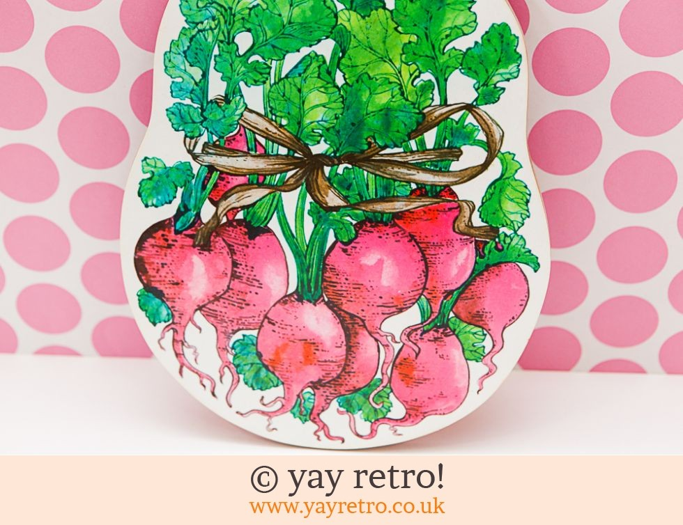 Vintage Chopping Board - Radishes (£10.00)