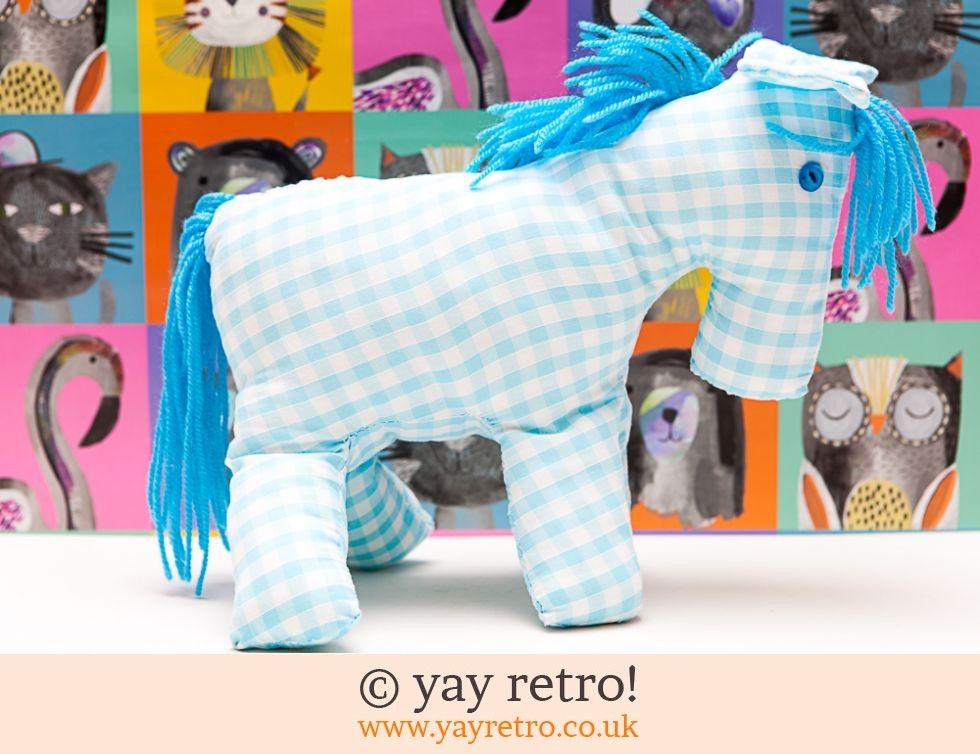 Blue Gingham Toy Horse (£5.50)