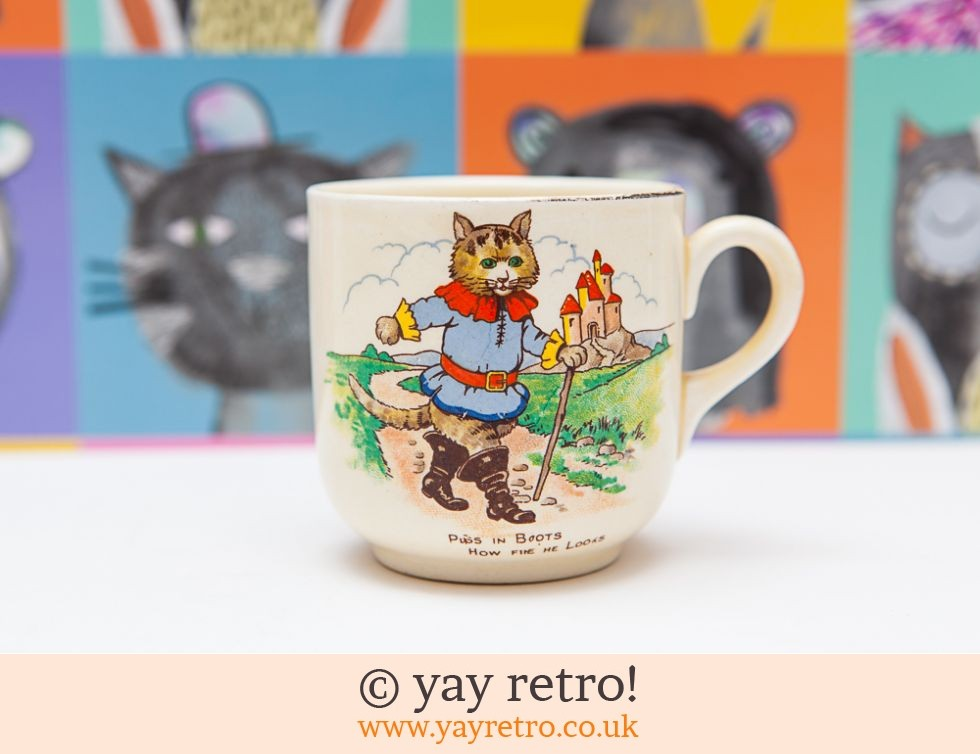 Bovey Pottery: Puss in Boots & Red Riding Hood 50/60s Mug (£3.00)