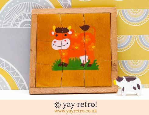 0: Vintage 60/70s Flower Power Cow Jigsaw (£8.75)