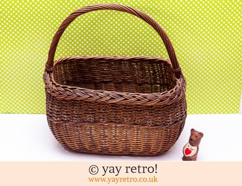 Wicker Shopping Basket Vintage (£12.50)