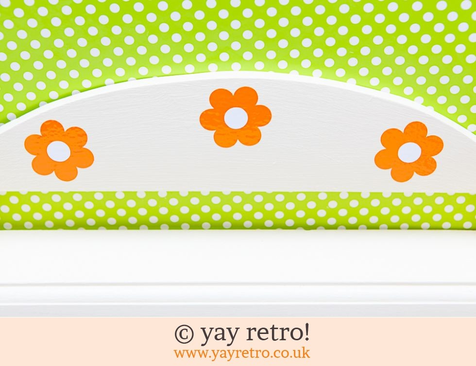 Orange Flowery Storage Shelf Display Cream (£14.50)