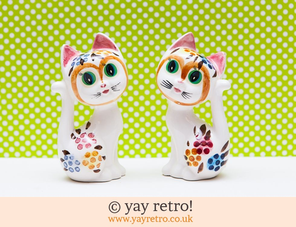 Rare pair of Kitsch 50/60s Cat Ornaments (£18.95)