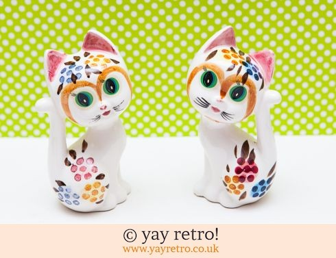 0: Rare pair of Kitsch 50/60s Cat Ornaments (£18.95)